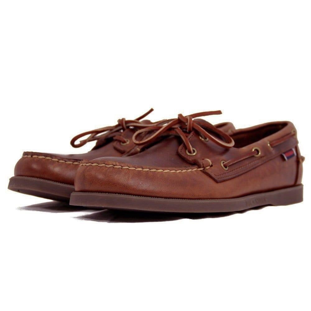 Sebago UK Shop | Docksides Brown Leather Boat Shoe