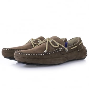 Sebago Kedge Brown Nubuck Driving Shoes B810112