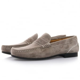 Sebago Trenton Penny Grey Suede SHoes B160005