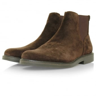 Sebago Turner Chelsea Dark Brown Suede Boot B810242