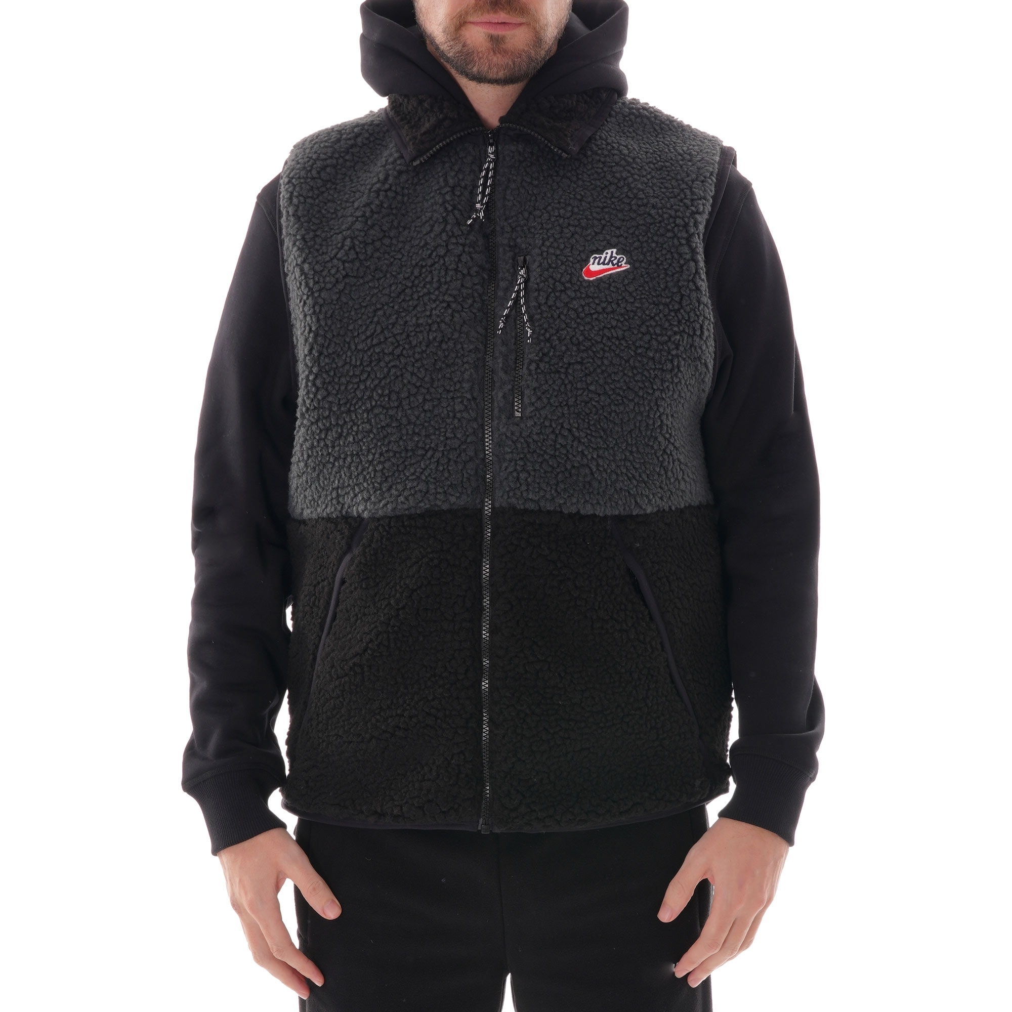 Nike Sherpa Fleece Gilet Off Noir Black | Always in Colour