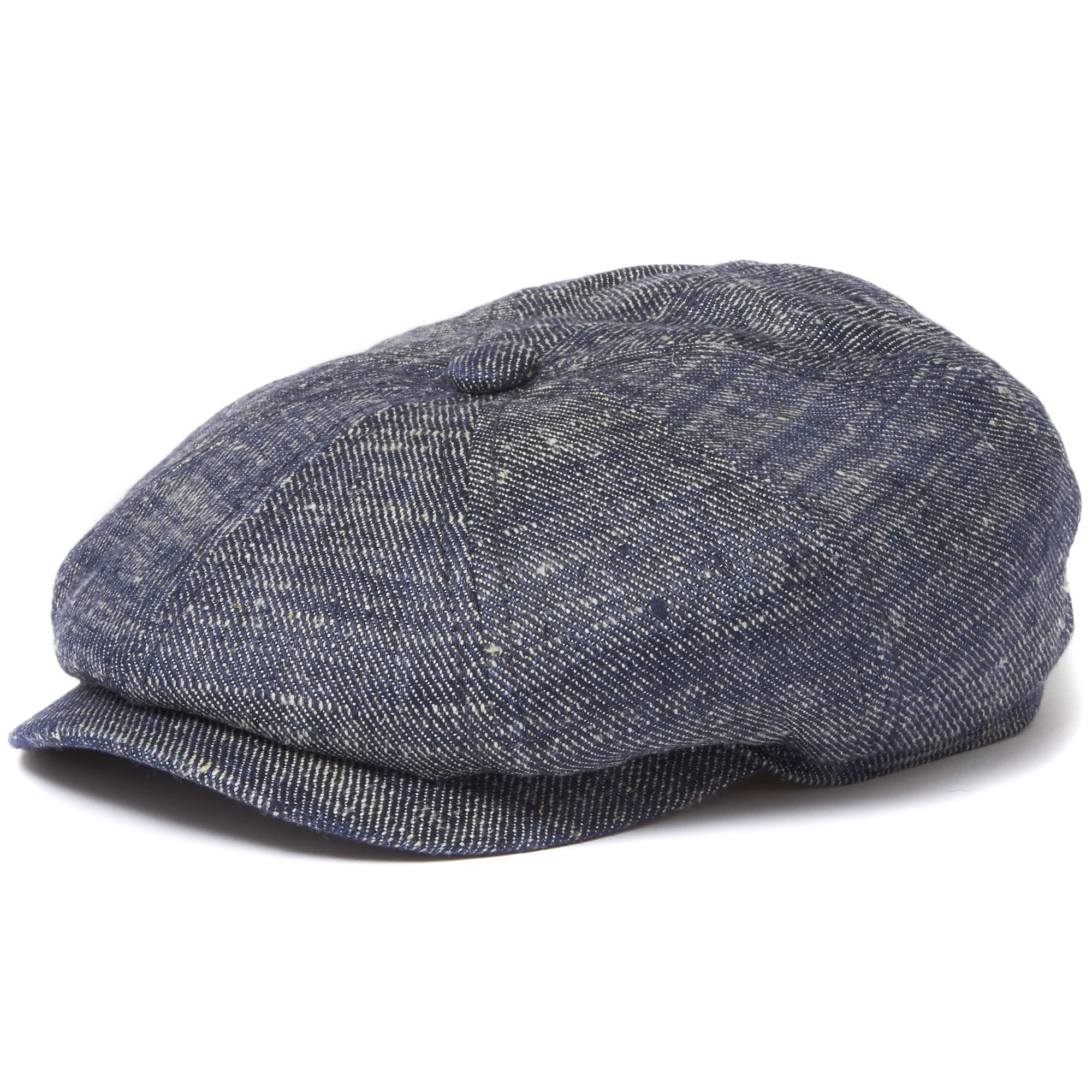 8af577eb6423a Stetson Navy Linen and Silk Denim Newsboy Cap