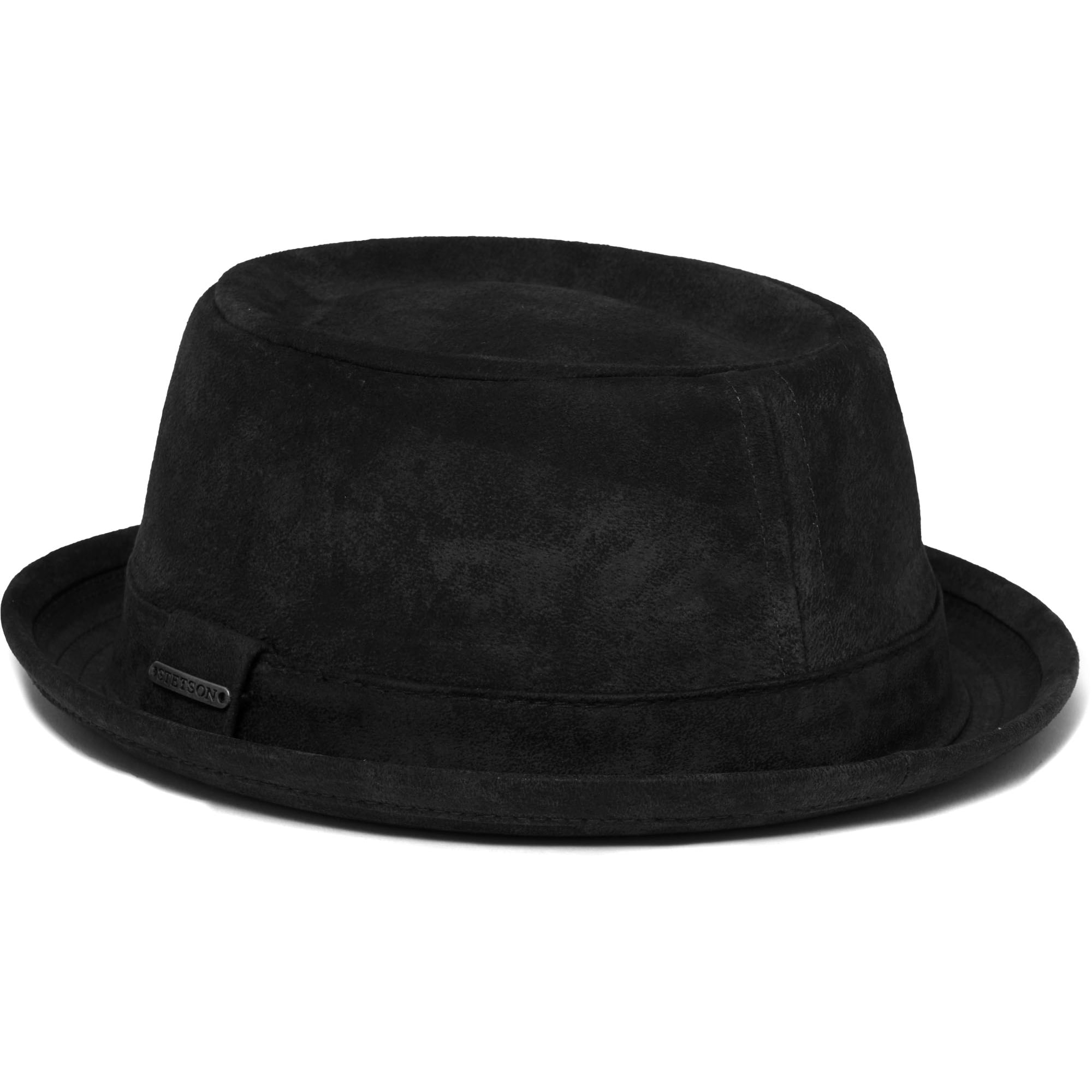 Stetson Black Odenton Pork Pie Cloth Hat 35278  24e94596203