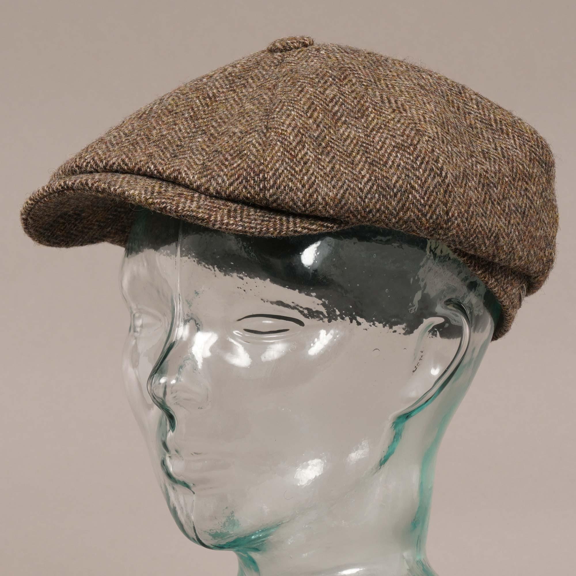 52f4e83b3 Stetson Hats Stetson Hatteras Woolrich Herringbone Brown Newsboy Hat  6840514 365