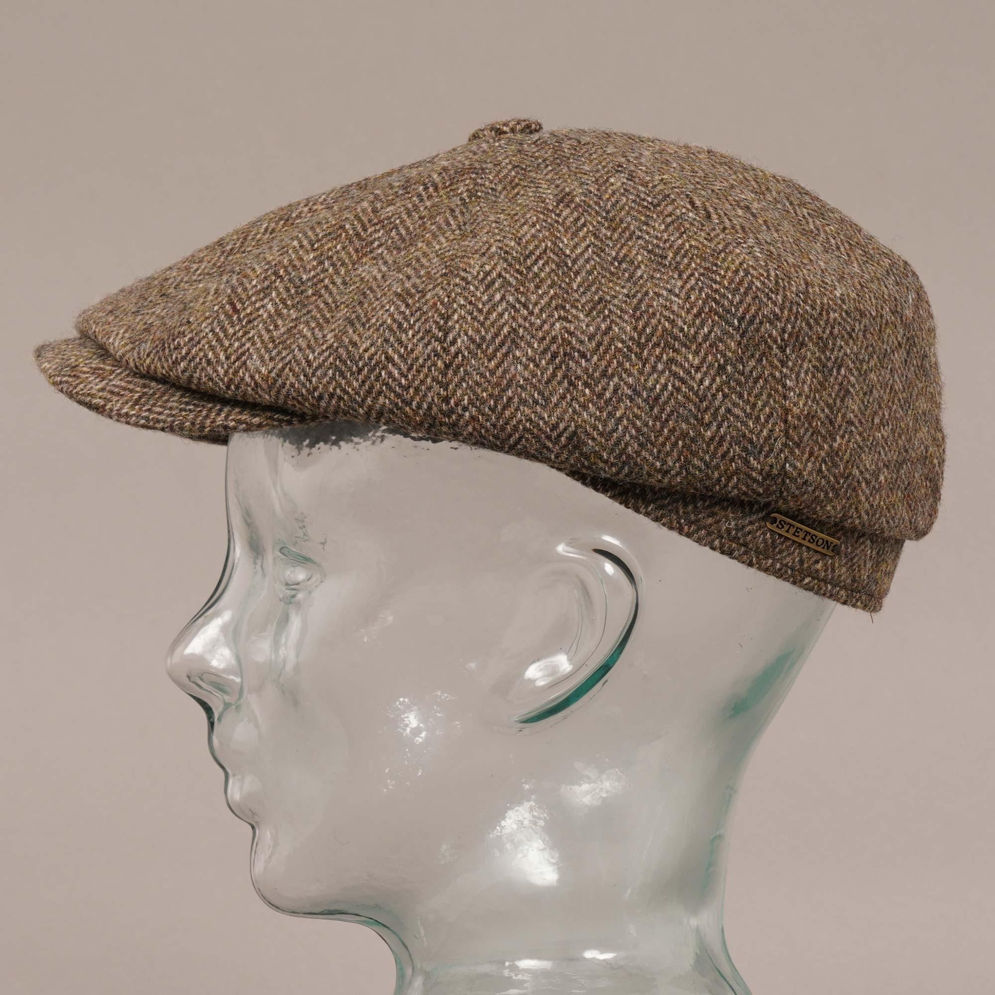 Stetson Hatteras Woolrich Herringbone Brown Newsboy Hat 6840514 365 d5e9bd1b706