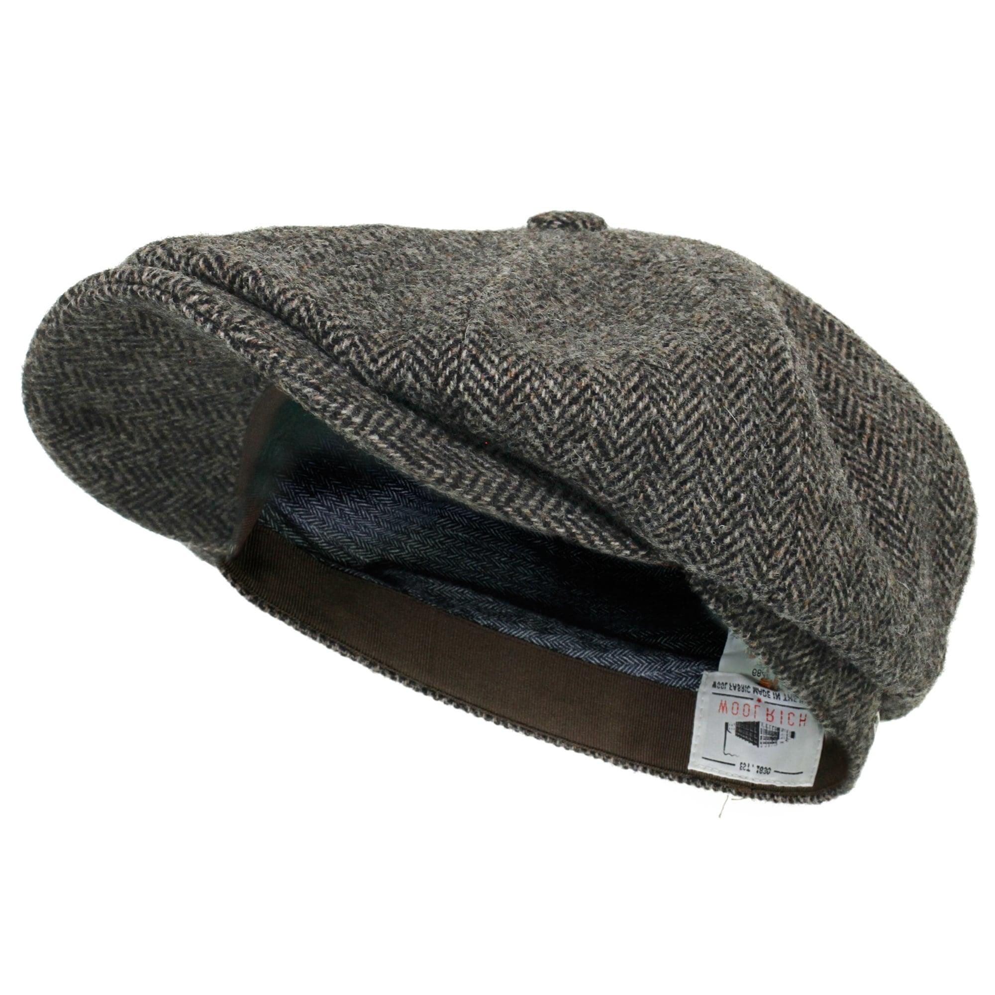 Stetson Hatteras Woolrich Herringbone Grey Newsboy Hat 6840514 333 60b57412378