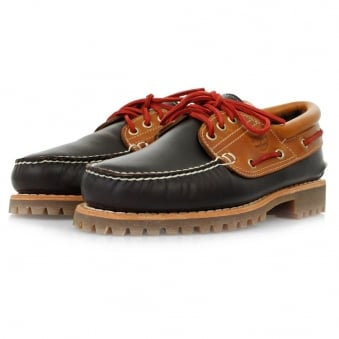 Timberland 3-Eye Classic Lug Shearling Dark Brown Leather Shoes 242