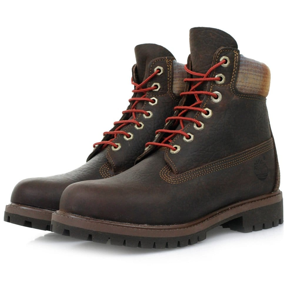 timberland 6 inch premium brown leather boots. Black Bedroom Furniture Sets. Home Design Ideas