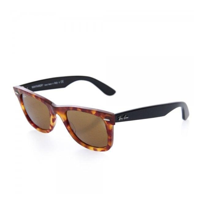 7b5d9712c Tortoise Original Wayfarer Fleck Sunglasses - Classic Brown Lenses