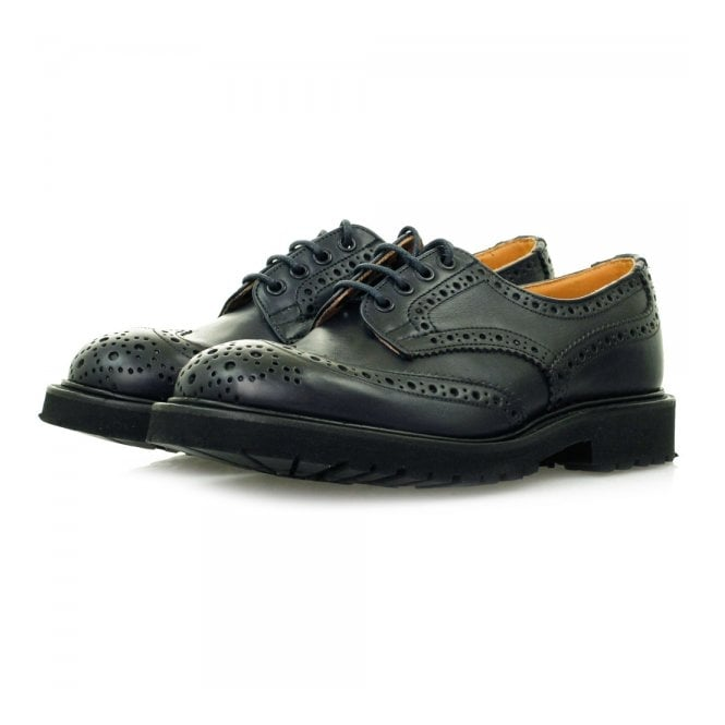 Tricker's Trickers X Stuarts London Derby Brogue Navy Shoes M7794