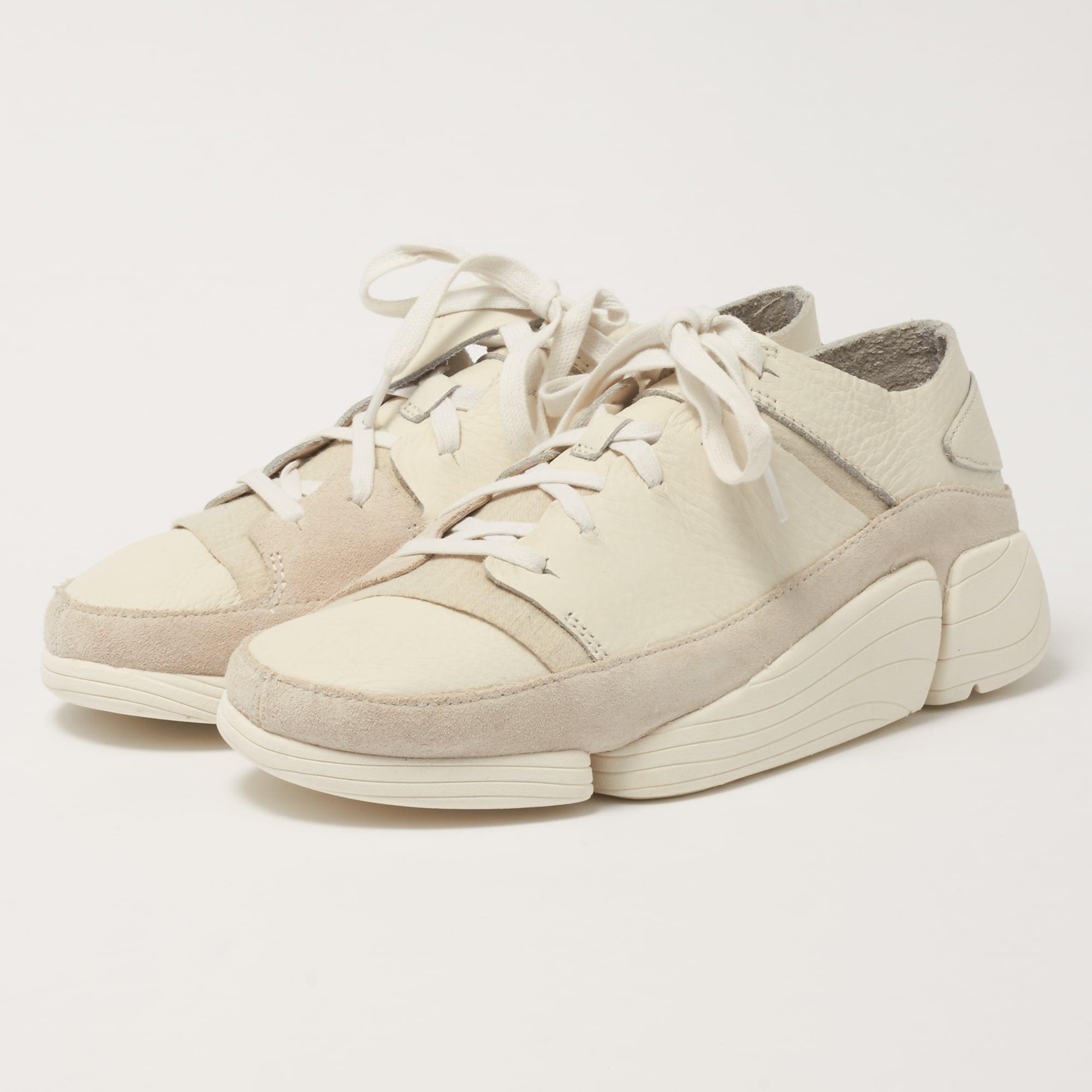 Clarks Originals Women's Trigenic Leather Trainers White