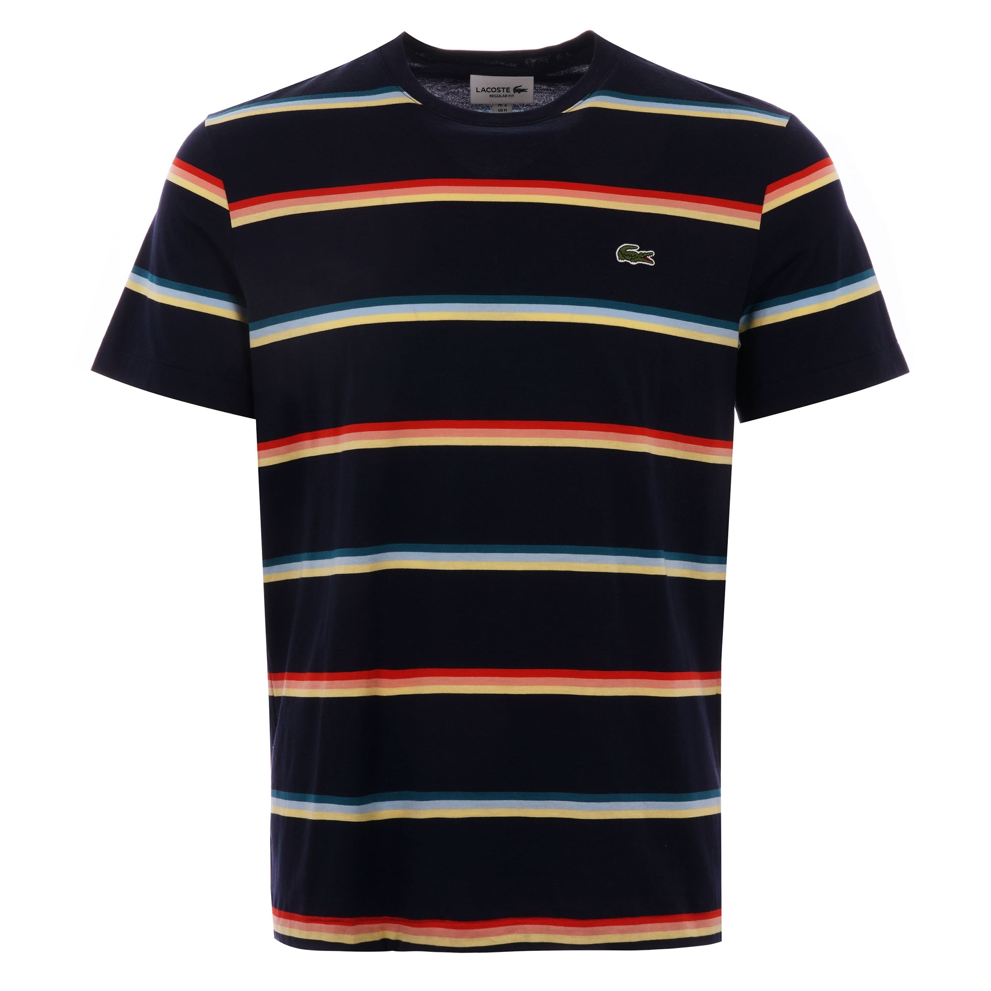 Lacoste Mens S//S Striped Jersey T-Shirt