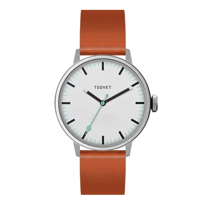 Tsovet Watches Tsovet SVT-SC38 White Tan Watch SC111513-40