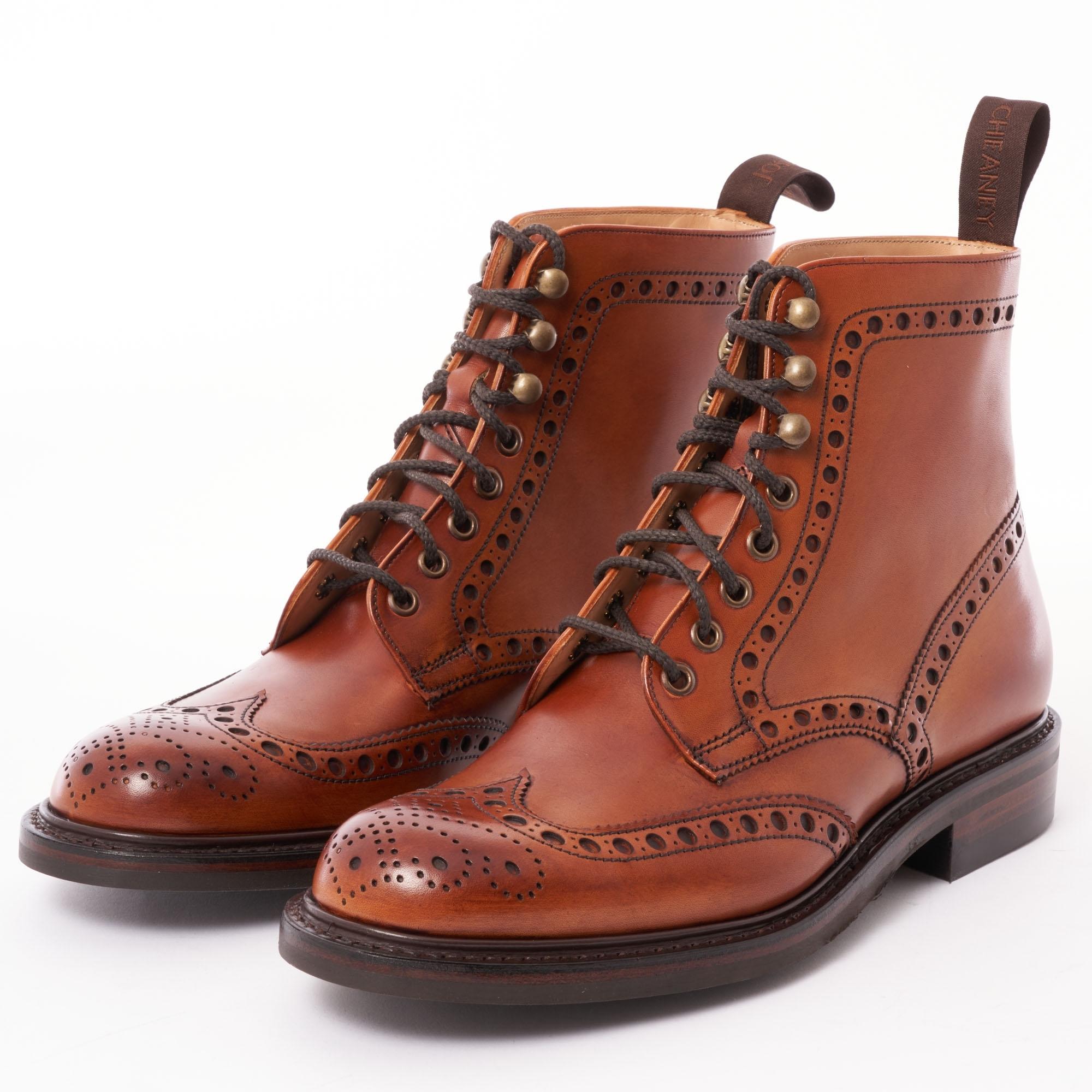 b3463b3525c Tweed Wingcap Brogue Boot - Dark Leaf Calf Leather