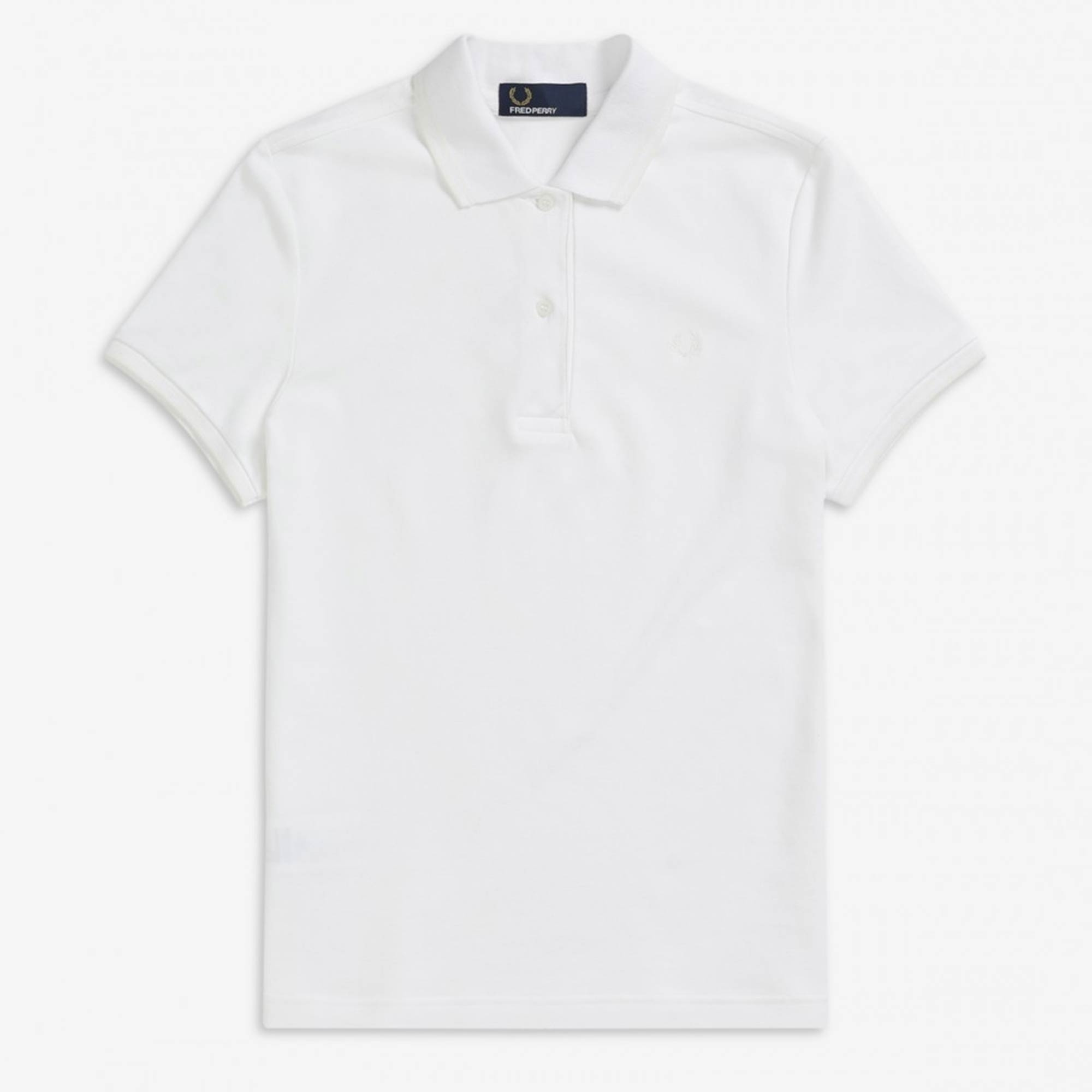 591cf154 Fred Perry Womens Twin Tip Polo Shirt | White | G3600-G33