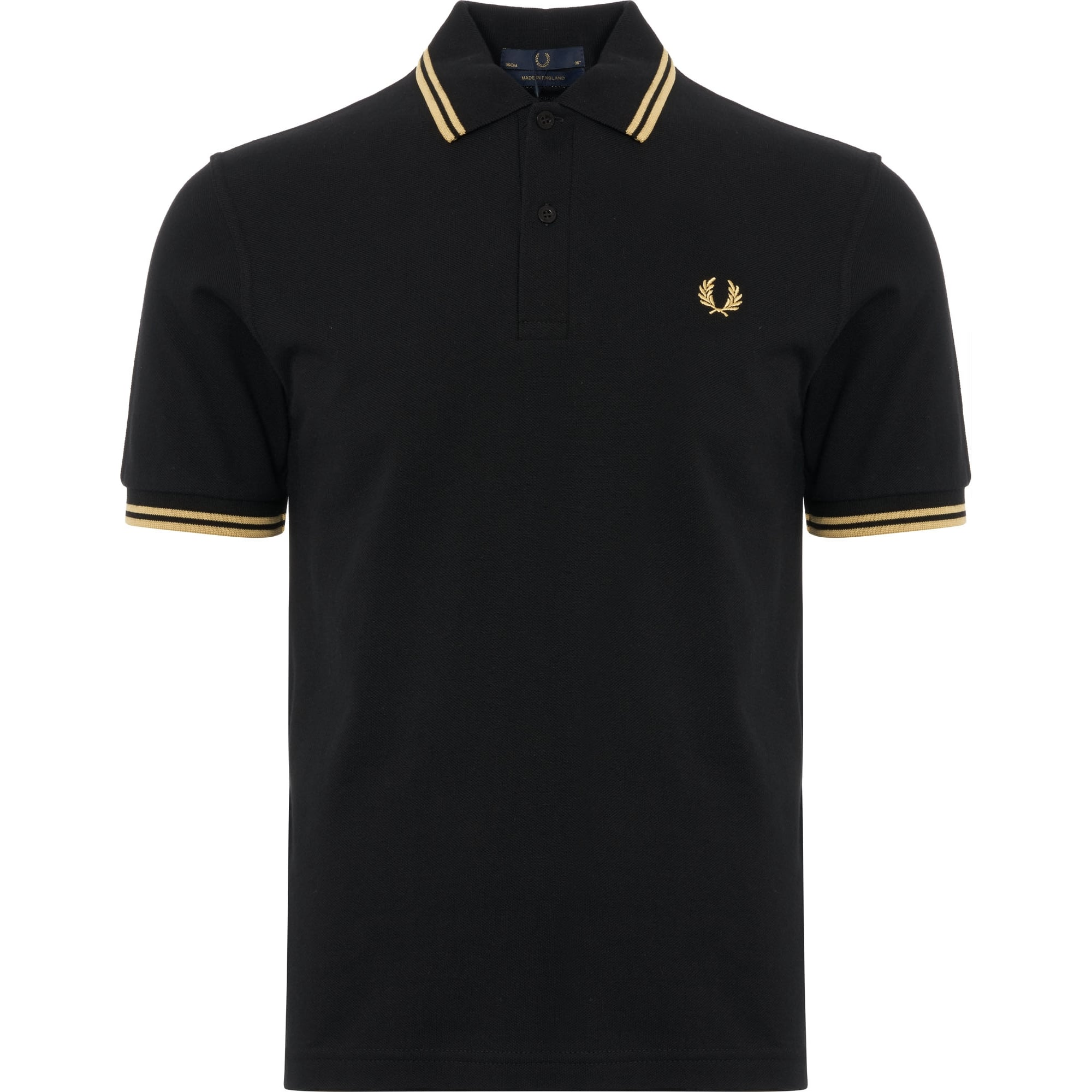 4308e179 discount holloway polo shirts 43ba8 f7689; reduced twin tipped polo shirt  black gold 98ac0 445d0