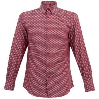 Versace Collection Trend Printed Red Shirt VT00018-V626