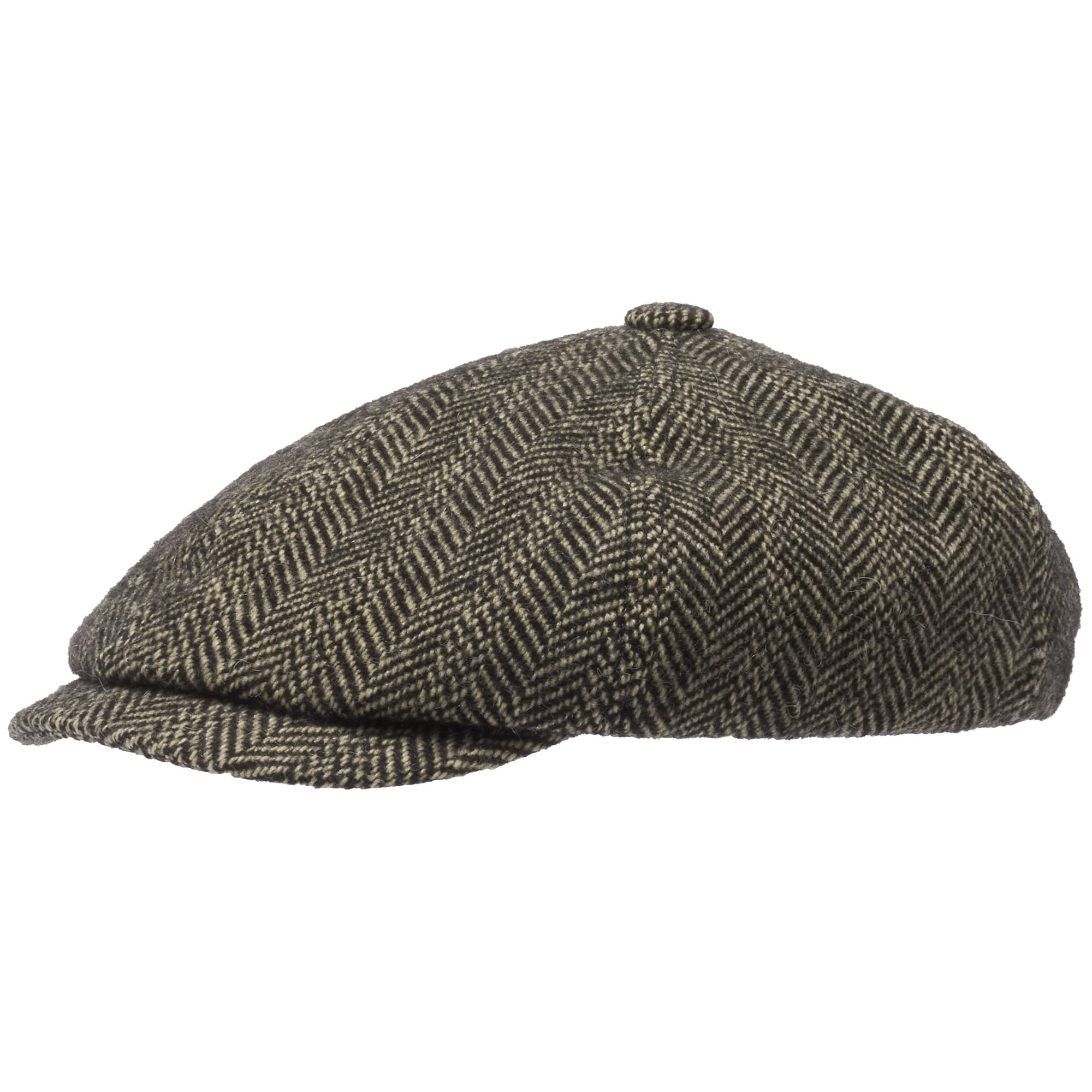 Virgin Wool 6-Panel Flat Cap- Herringbone 5f6997c670e