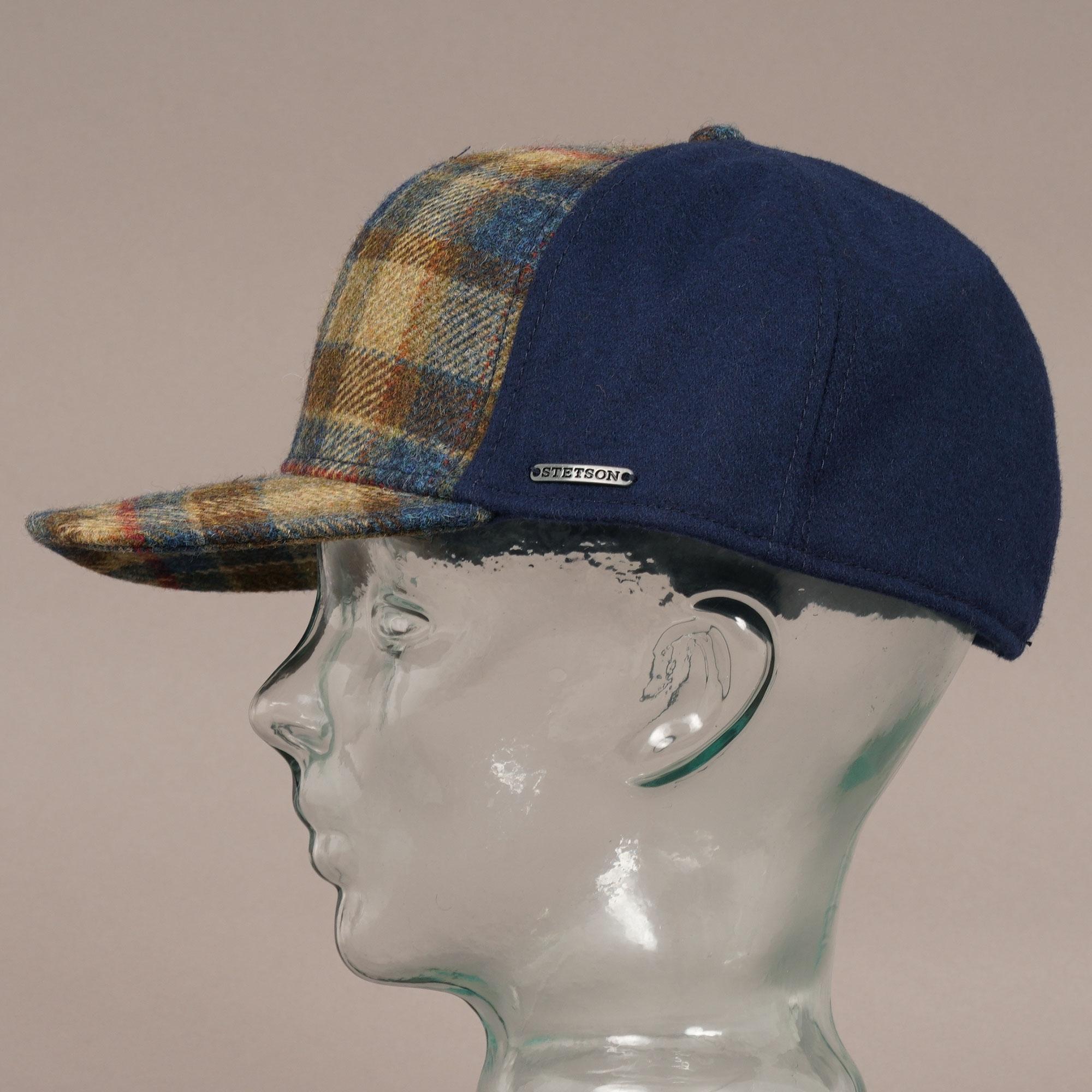 Virgin Wool Trucker Cap - Blue Check 41d86f73acc