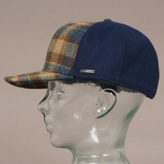 c2e52161d55 Virgin Wool Trucker Cap - Blue Check