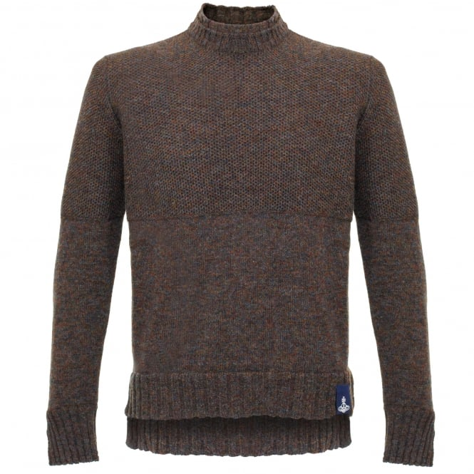 Vivienne Westwood Anglomania Vivienne Westwood Double Collar Brown Jumper 62288511