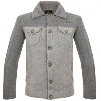 Vivienne Westwood Knitted Classic Denim Grey Cardigan 54282552-W97