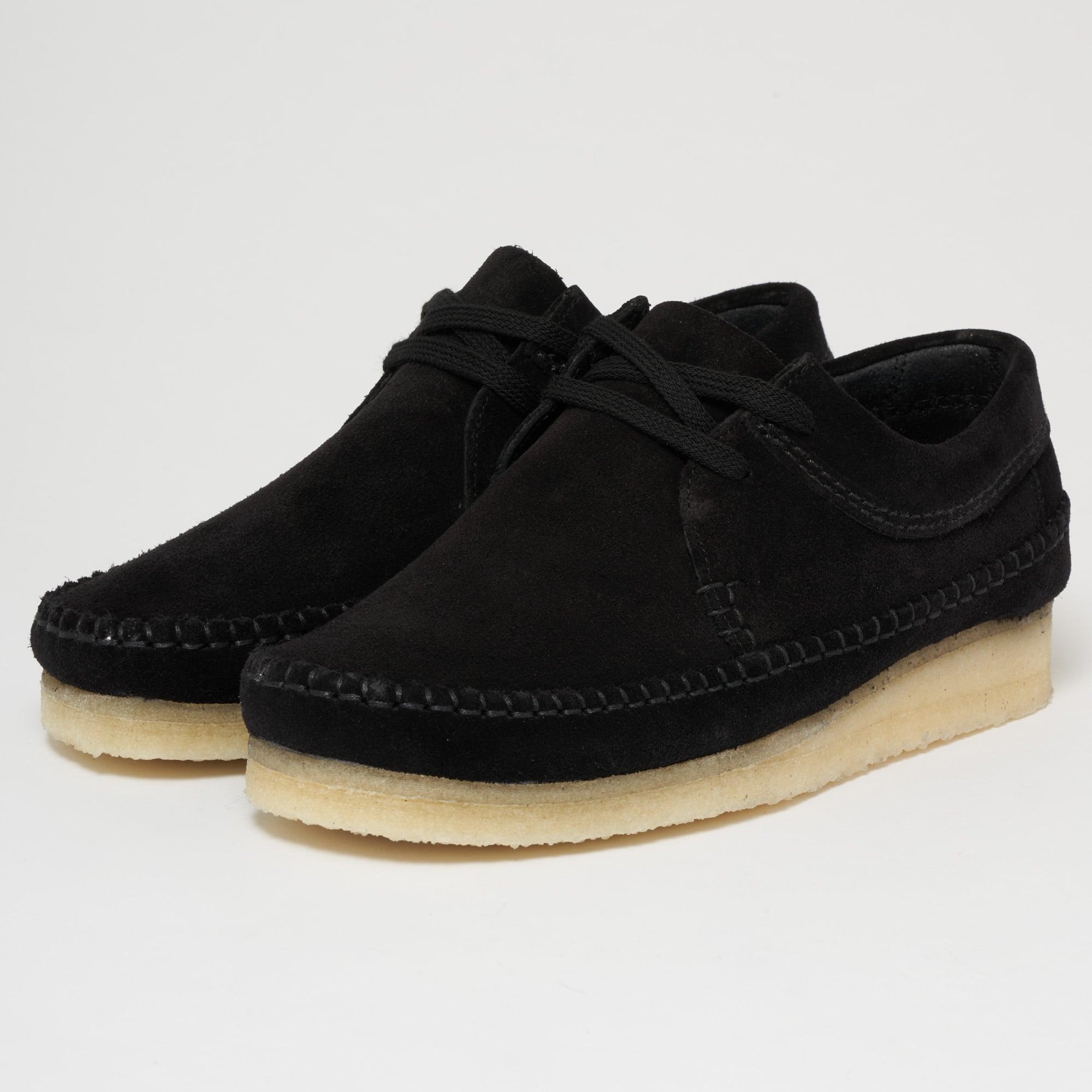 d1a88979 Clarks Originals UK | Weaver Black Suede Shoes