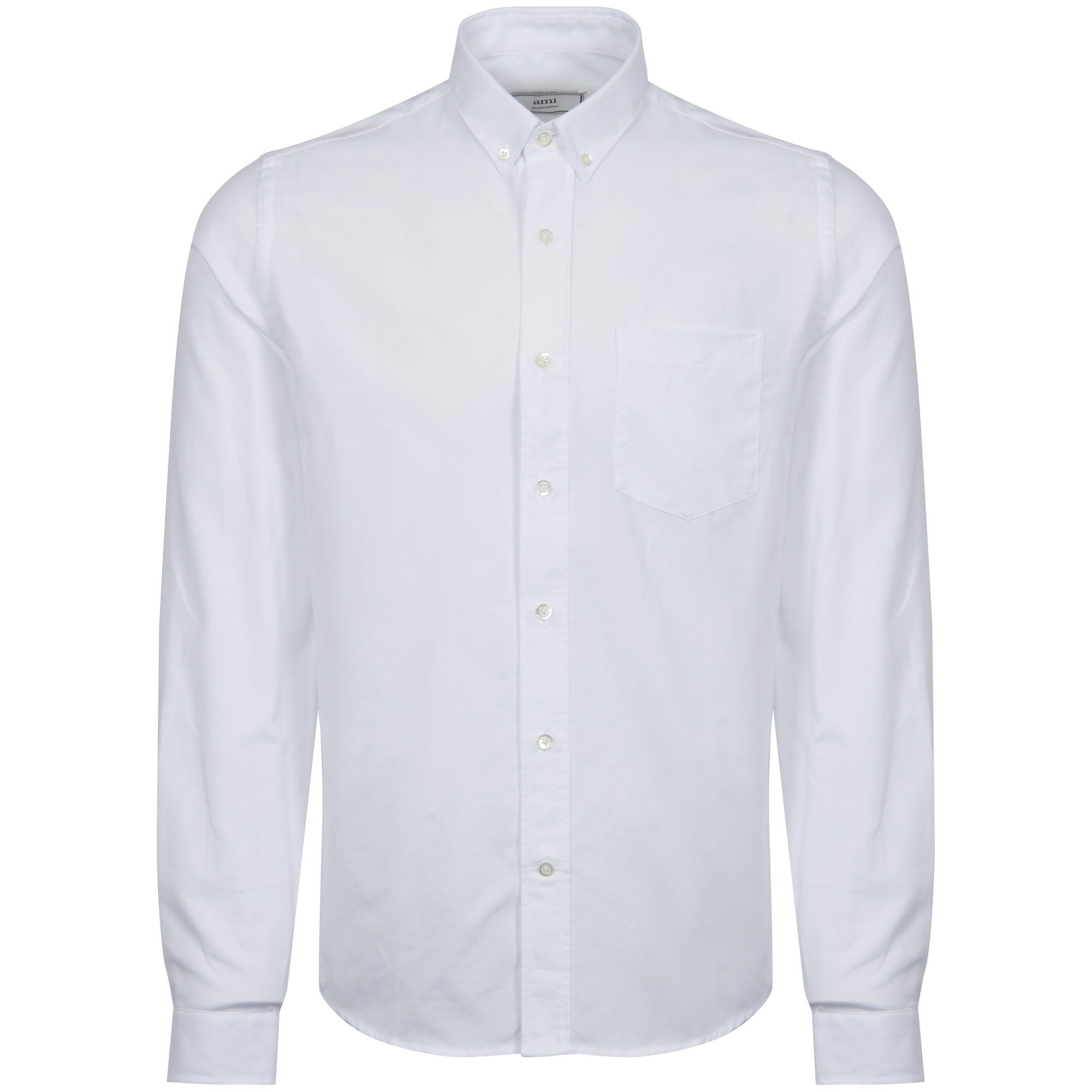 fd4bdab81b3 AMI White Button Down Oxford Shirt