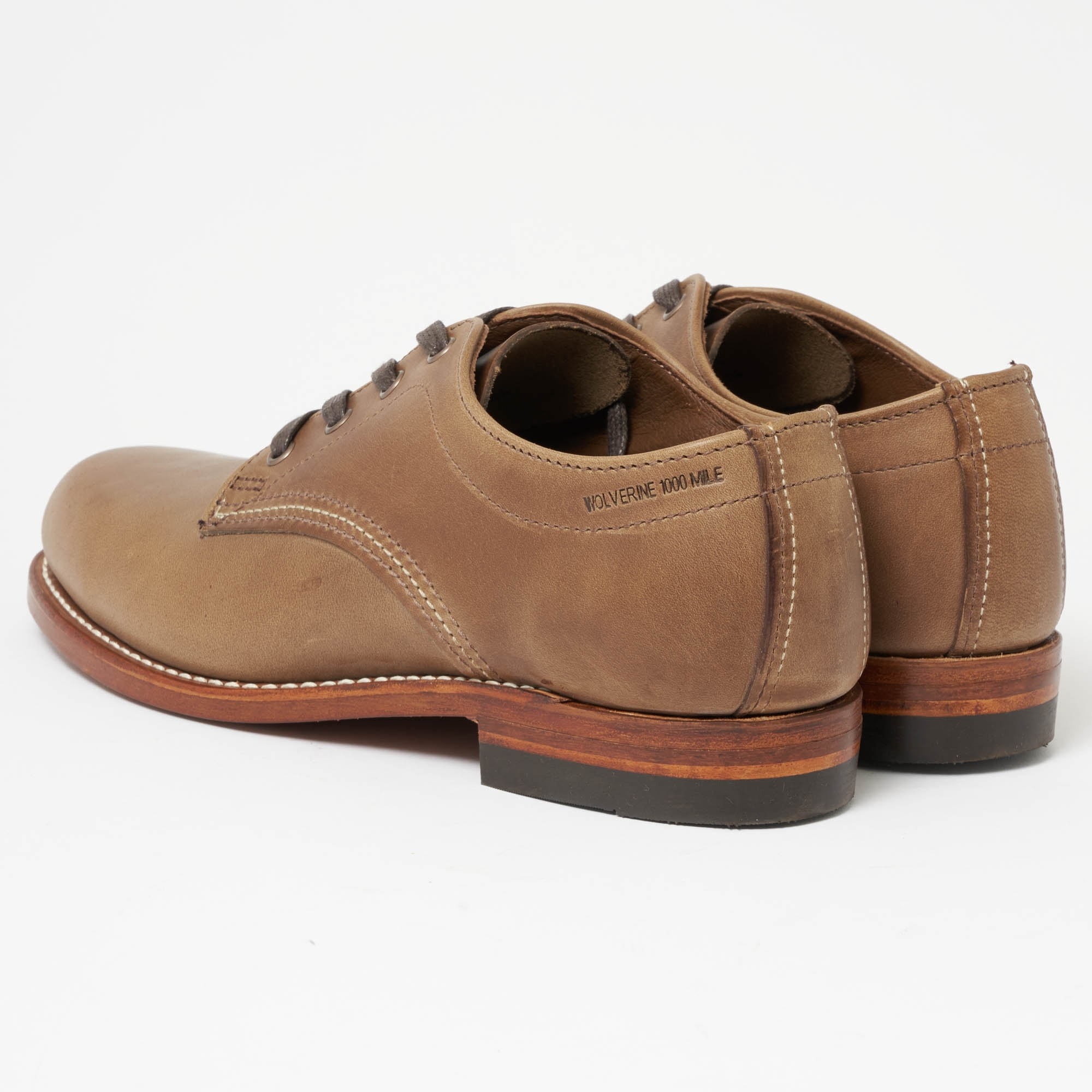 ca368a190c3 Wolverine Wolverine 1000 Mile Oxford Natural Leather Shoes W00071