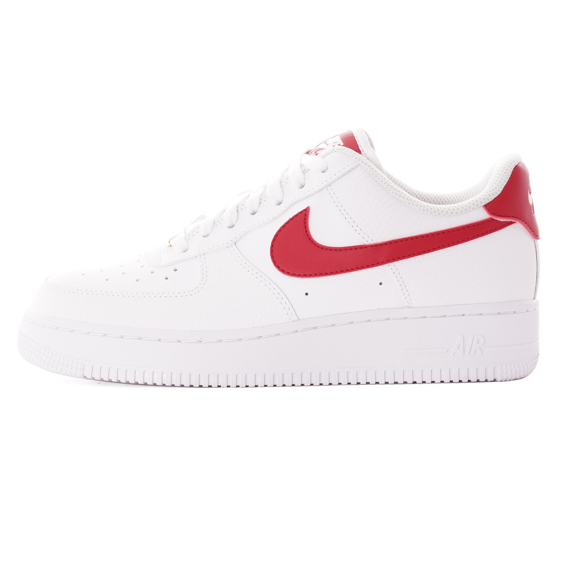 Nike Women\u0027s Air Force 1 \u002707 , White/Gym Red/Gold