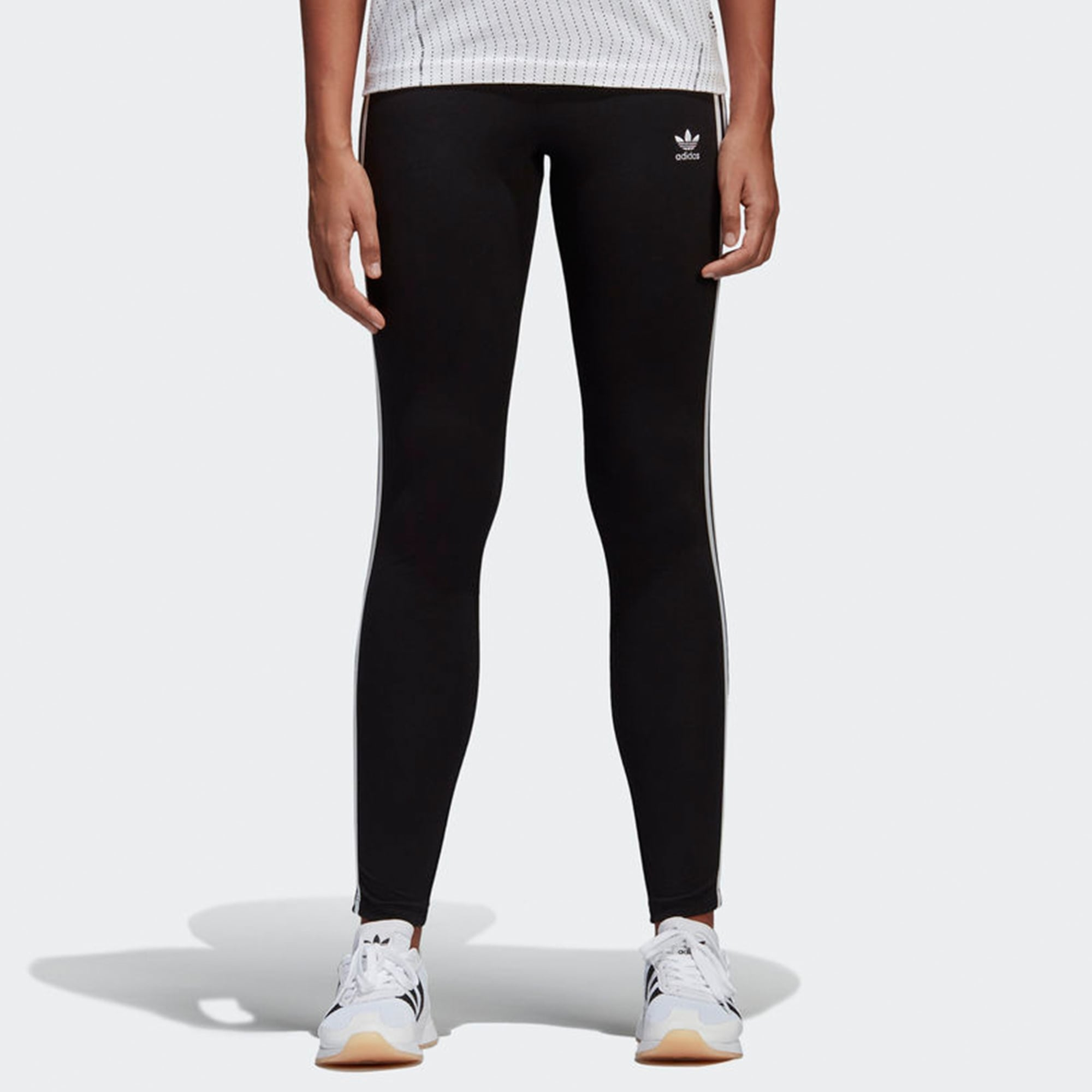 96d2272da490 Adidas Originals Womens Black 3-Stripes Leggings | CE2441