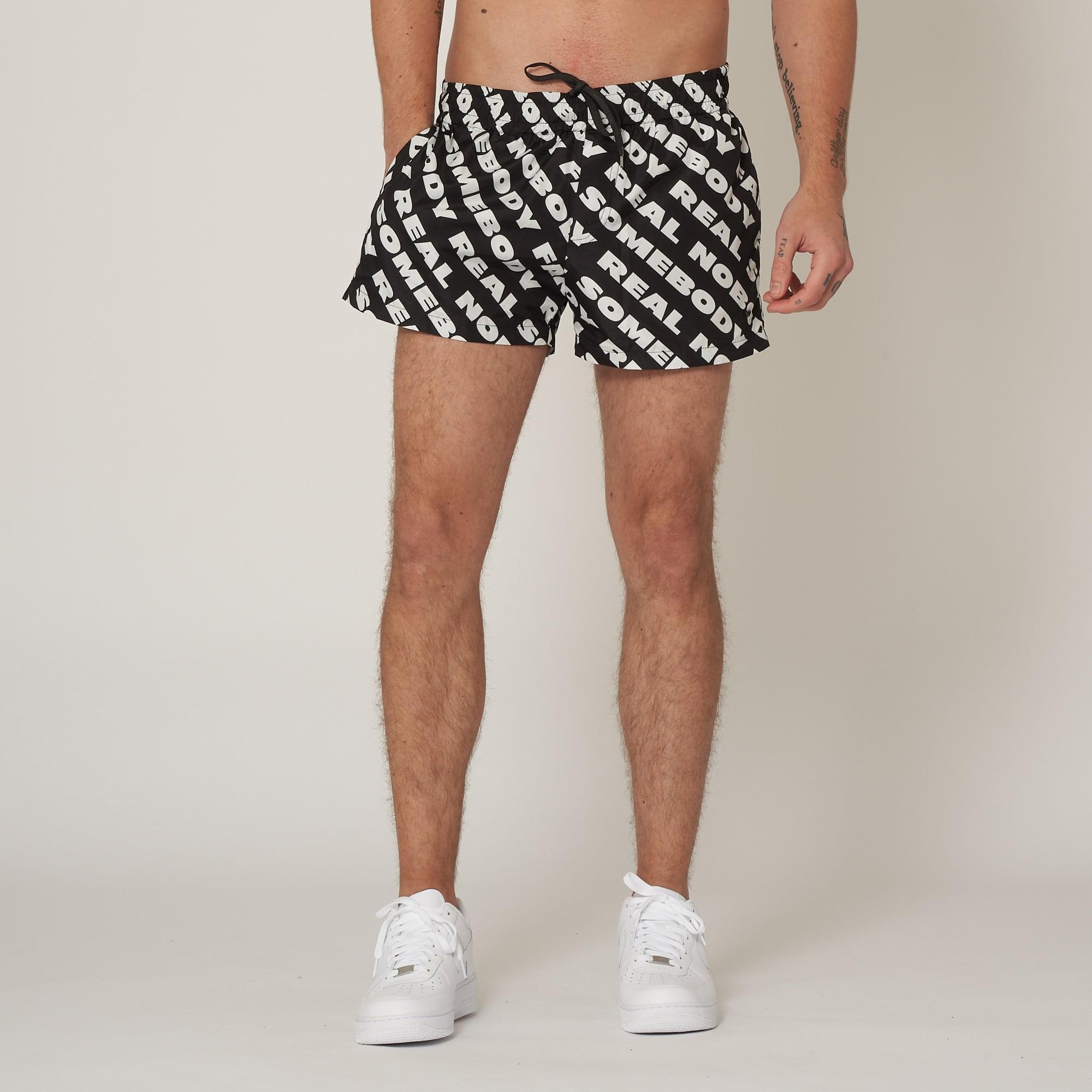 Black REAL NOBODY FAKE SOMEBODY Callum Shorts