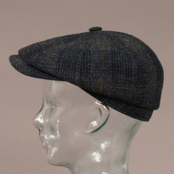 746882c20f6d2d Wool Harris Tweed Hatteras Cap - Grey. Stetson Hats ...