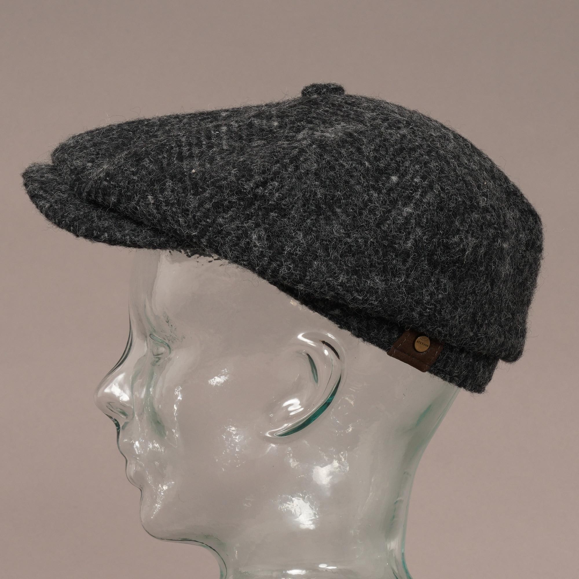 b2e0c8b0 Stetson Wool Hatteras Flat Cap | Black | 6840502-331