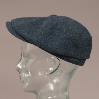 Wool Hatteras Flat Cap - Blue 29aa5ca05af6
