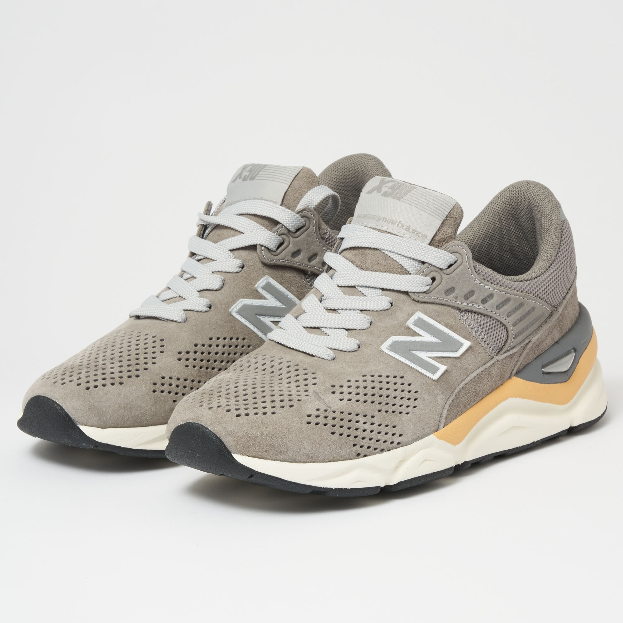 promo code b3b40 b19d8 New Balance X-90 Sneakers   Grey   MSX90PNB   Stuarts London