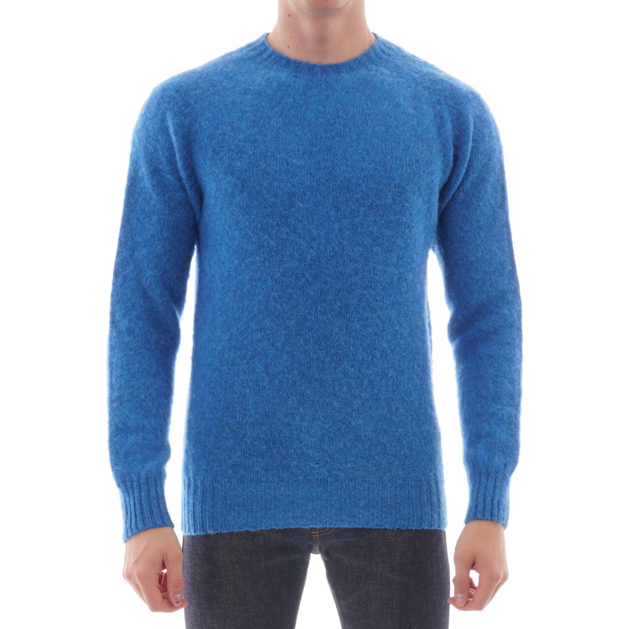 crew neck jumper - blue