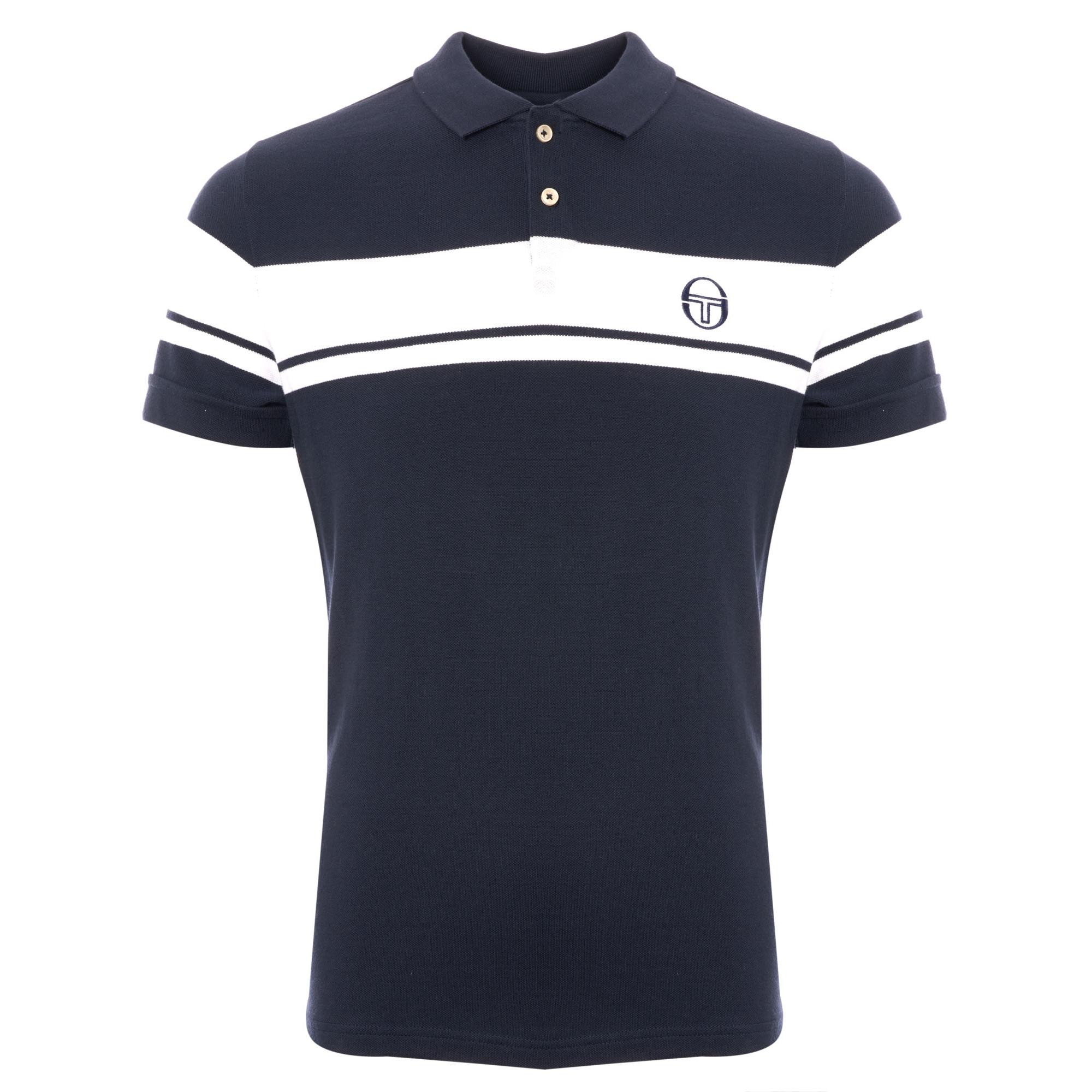 3cbbb17ce Sergio Tacchini Young Line Polo Shirt   Navy & White   36639-002